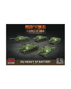 Battlefront SBX63 ISU Heavy SP Battery (5 SP Guns) Plastic Gaming Miniatures