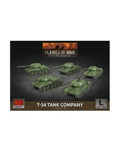 Battlefront SBX66 T-34 Tank Company (5 Tanks) Plastic Gaming Miniatures