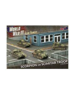 Battlefront TBBX03 Scorpion Or Scimitar Troop (4 Tanks) Gaming Miniatures
