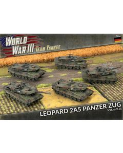 Battlefront TGBX18 Leopard 2A5 Panzer Zug (5 Tanks) Plastic Gaming Miniatures