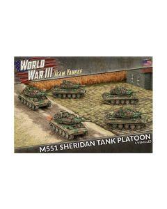 Battlefront TUBX17 M551 Sheridan Tank Platoon (5 Tanks) Gaming Miniatures