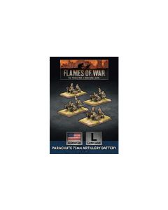 Battlefront UBX66 Parachute 75mm Artillery Battery (4 Guns) Gaming Miniatures