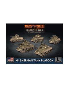 Battlefront UBX69 M4 Sherman Tank Platoon (5 Tanks) Plastic Gaming Miniatures