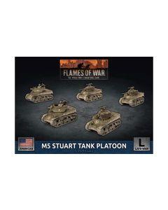 Battlefront UBX70 M5 Stuart Tank Platoon (5 Tanks) Plastic Gaming Miniatures