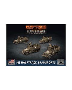 Battlefront UBX76 M3 Halftrack Platoon (4 Vehicles) Plastic Gaming Miniatures