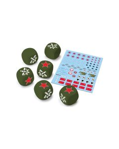 Battlefront WOT12 U.S.S.R. Dice and Decals for World of Tanks Miniatures Game