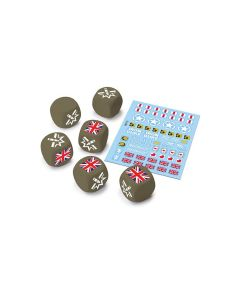 Battlefront WOT13 U.K. Dice and Decals for World of Tanks Miniatures Game