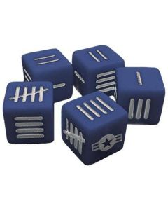 Blood Red Skies Dice (10) Blue with US Star and Bars