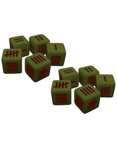 Blood Red Skies Dice (10) Green with Soviet Red Star
