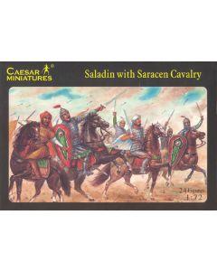 Caesar Miniatures H018 Saladin with Saracen Cavalry 1/72 Scale Plastic Figures