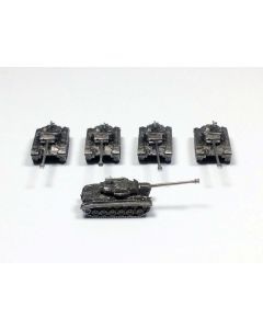 GHQ N529 M26E4 with MG Assembled & Unfinished 1/285 Scale Micro Armour Set of 5