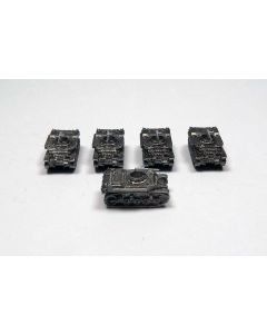 GHQ US78 T8E1 with MG Assembled & Unfinished 1/285 Scale Micro Armour Set of 5