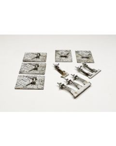 GHQ M1 155 mm Howitzer on Base Unpainted 1/285 Scale Micro Armour Set of 5