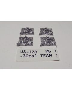 C in C US-128 .30 cal MG Team Unpainted 1/285 Scale Gaming Miniature