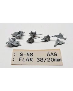 C in C G-58 FlaK 38/20mm Anti-Aircraft Unpainted 1/285 Scale Gaming Miniature