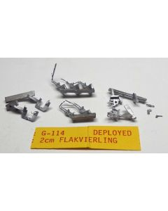 C in C G-114 Deployed 2cm Quad FlaK Unpainted 1/285 Scale Gaming Miniature