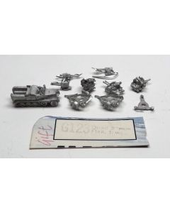 GHQ G123 PaK 44 20mm Quad FlaK, Towed Unpainted 1/285 Scale Micro Armour
