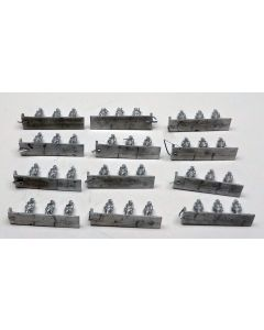 C in C US Infantry Marching Unpainted 1/285 Scale Gaming Miniature