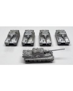GHQ G38 Jagdtiger Assembled & Unfinished 1/285 Scale Micro Armour Set of 5