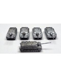 GHQ PzJag IV Assembled & Unfinished 1/285 Scale Micro Armour Set of 5