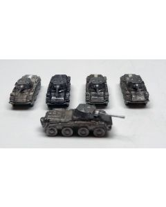 GHQ G52 SdKfz 234/2 Puma Assembled & Unfinished 1/285 Scale Set of 5