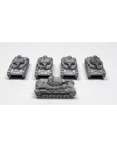 GHQ G64 Panzer IV Ausf.F-1 Assembled & Unfinished  1/285 Scale Set of 5