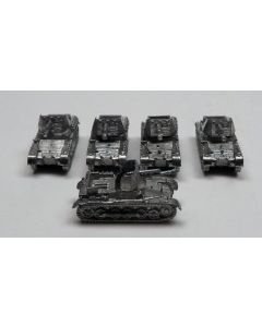 GHQ G119 PzJager IB Assembled & Unfinished  1/285 Scale Micro Armour Set of 5
