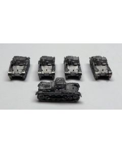 GHQ G92 Panzer I Unfinished  1/285 Scale Micro Armour Set of 5
