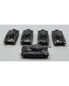 GHQ Valentine Mk XI Assembled & Unfinished 1/285 Scale Micro Armour Set