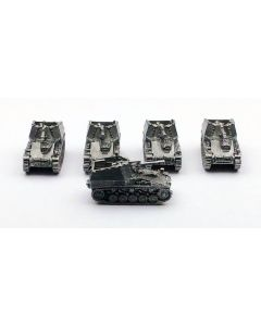 GHQ G117 Wespe Assembled & Unfinished 1/285 Scale Micro Armor Set of 5