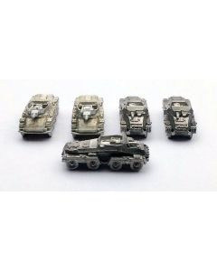 GHQ Sd.Kfz 233 Stummel Assembled & Unfinished 1/285 Scale Set of 5