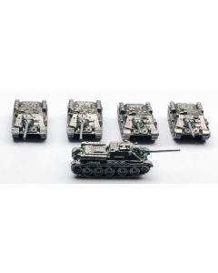 GHQ R6 SU-85 Assembled & Unfinished 1/285 Scale Set of 5