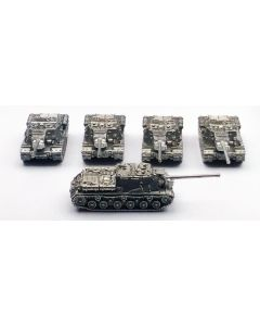 GHQ ISU-122 Heavy Self-Propelled Gun Assembled & Unfinished 1/285 Scale Set of 5