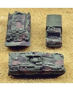 GHQ 1/285 Scale Bundeswehr Marder, M88 & Unimog Assembled & Finished