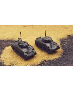 US Army M4 Sherman Tanks WWII Olive Drab Assembled & Finished 1/285 Scale