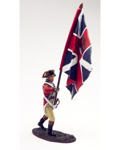 King & Country BR035 British Officer with Union Flag American Revolution