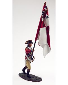 King & Country BR036 British Officer with Regimental Flag American Revolution