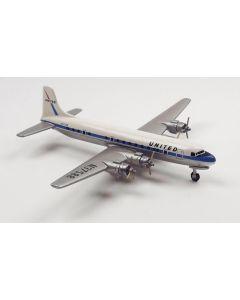 AeroClassics United Airlines Douglas DC-6 'N37588' 1/400 Scale Diecast Model