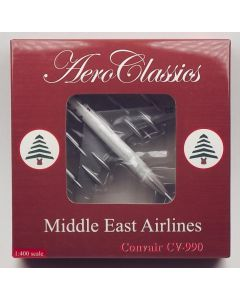 AeroClassics Middle East Airlines CV-990-30-5 'OD-AFF' 1/400 Scale Diecast Model