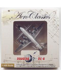 AeroClassics Loftleidir DC-6B 'TF-LLA' 1/400 Scale Diecast Model
