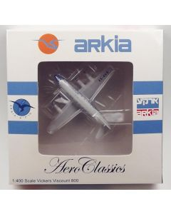 AeroClassics Arkia Israeli Airlines Viscount 833 '4X-AVB' 1/400 Scale Model