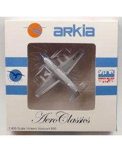 AeroClassics Arkia Israeli Airlines Viscount 833 '4X-AVC' 1/400 Scale Model