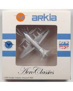 AeroClassics Arkia Israeli Airlines Viscount 833 '4X-AVA' 1/400 Scale Model