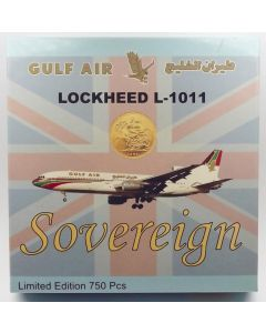 GeminiJets (Sovereign) Gulf Air L-1011-385-1-100 'A4O-TY' 1/400 Scale Model
