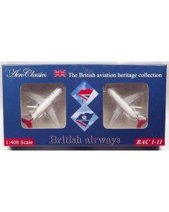 AeroClassics British Airways BAC 111 'G-BBME' & BAC 111 'G-AVOF' 1/400 Scale