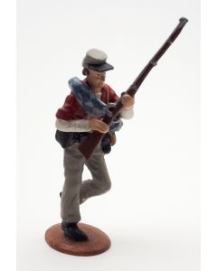 Confederate Infantry Advancing Red Shirt 1/30 Scale Metal Toy Soldier