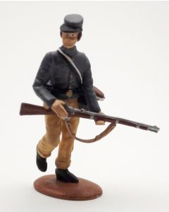 Confederate Infantry Walking with Rifle 1/30 Scale Metal Toy Soldier
