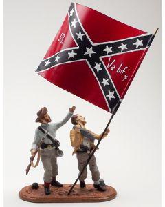52nd Virginia Infantry Flagbearer Set 1/30 Scale Metal Toy Soldiers