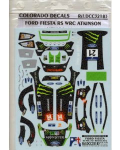 Colorado Decals DCC32183 Fiesta RS WRC Rally 2012 Atkinson 1/32 Scale Decals