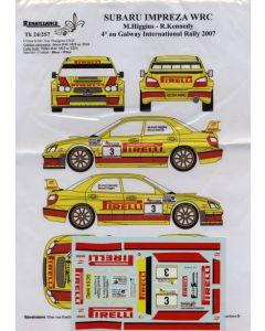 Renaissance Tk24/257 Impreza WRC Higgins-Kennedy Pirelli 1/24 Scale Decals